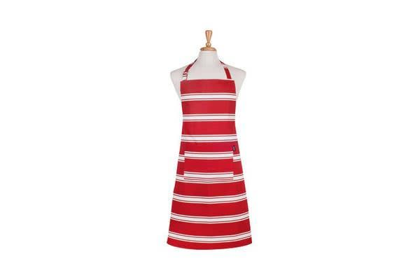 Ladelle Butcher Stripe Apron Red