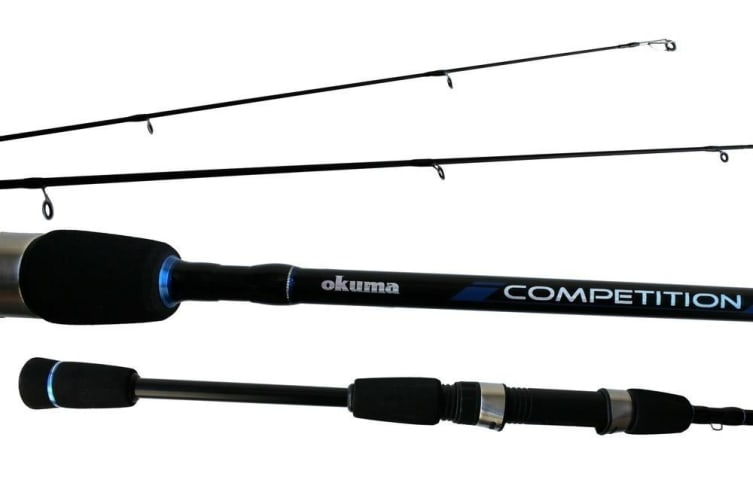 8ft Okuma Competition 8-17lb Graphite Spin Rod with Split Grip Butt
