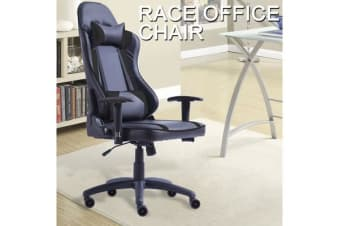 Gaming Racing Office Chair PU Leather BLACK