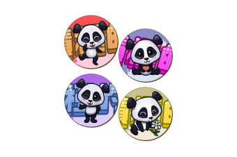 Handa Panda 4 Piece Coaster Set (Multicoloured)
