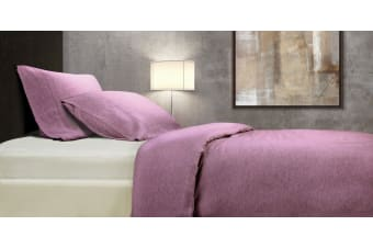 Royal Comfort 100% All Natural French Lux Linen Quilt Cover Set Double - Mauve
