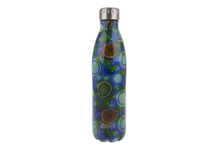 2x Oasis 500ml Double Wall Insulated Drink Water Bottle Vacuum Flask Sea Turtle