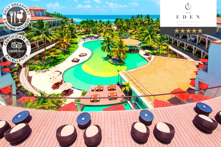 SRI LANKA: 5 Nights at The Eden Resort and Spa for Two