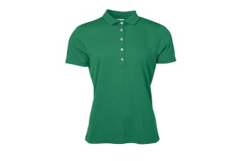 James and Nicholson Womens/Ladies Active Polo (Green) (XXL)