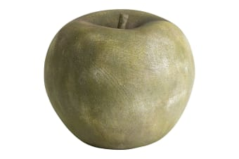 Large Apple Outdoor Aged Stone Ornament (Stone) (One Size)