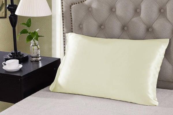 Royal Comfort Mulberry Silk Pillow Cases - 2 Pack - (Ivory)