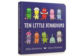 Ten Little Dinosaurs Board Book