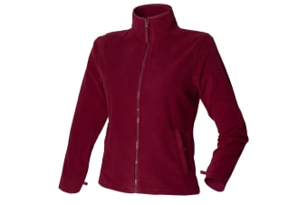 Henbury Womens/Ladies Microfleece Anti-Pill Jacket (Burgundy)