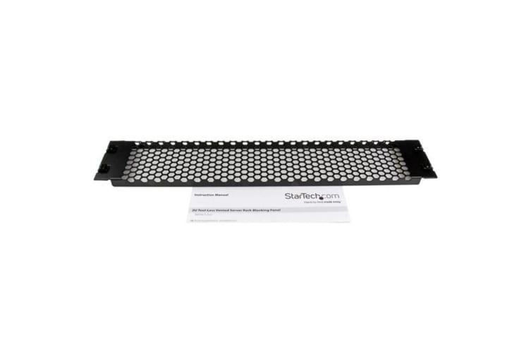 StarTech.com 2U Tool-Less Vented Blank Rack Panel