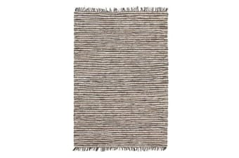 Bondi Leather and Jute Rug Nude Pink White 220x150cm