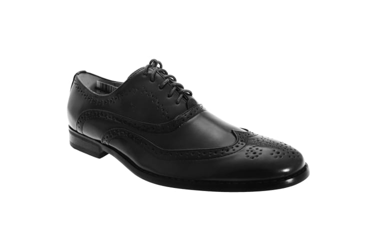 Goor Mens Leather Lace-Up Oxford Brogue Shoes (Black) (11 UK)