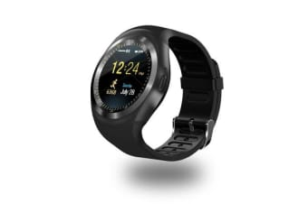 "TODO Bluetooth V3.0 Smart Watch 1.54"" Ips Lcd Rechargeable Bt Sync Android - Black"