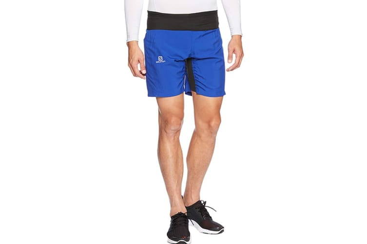Salomon Trail Runner Twinskin Shorts Men's (Surf The Web, Size Large)