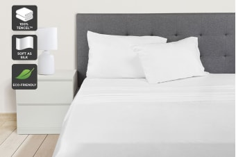 Ovela 100% Tencel™ Bed Sheet Set (White)
