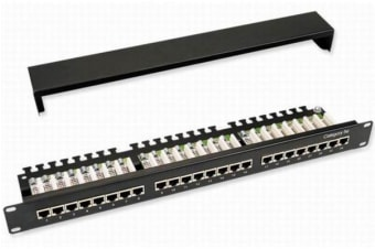 Astrotek 24 Ports UTP Patch Panel CAT5e RJ45 for 19' 1RU Rack Mount Data Network Cabinet Server PCB Type 110/Krone 3U' Black with paper windows LS