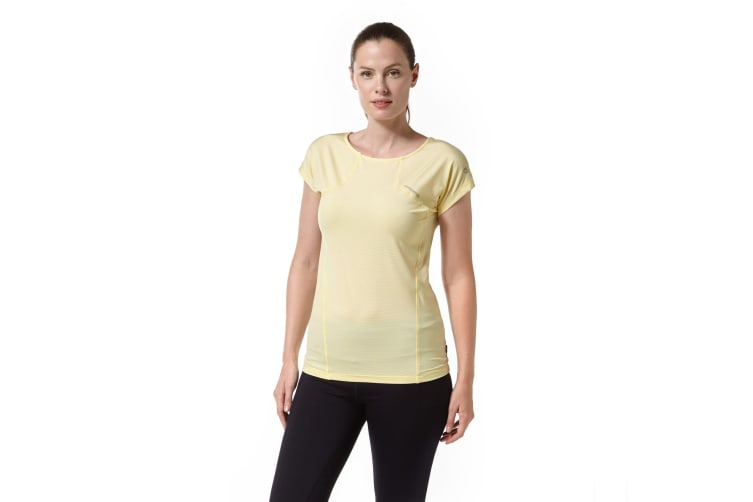Craghoppers Womens/Ladies Fusion Technical Short Sleeve T-Shirt (Buttercup) (8 UK)
