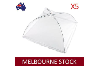 5X COLLAPSIBLE MESH FOOD COVERS INSECT NET SCREEN FLY SQUARE 40X40 CM AU STOCK