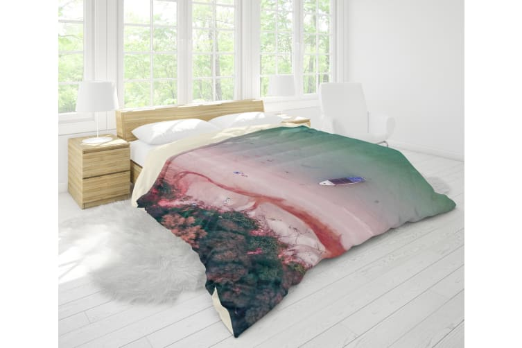 3D Sea Beach Forest Boat Quilt Cover Set Bedding Set Pillowcases 55-Double