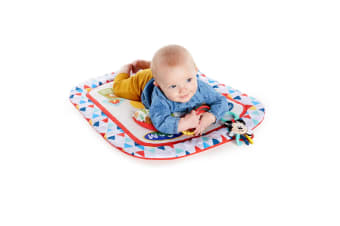 Bright Starts Mickey Mouse Camping Friends Baby Infant Tummy Prop Mat w/Toys 0m+