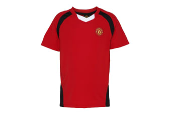 Official Football Merchandise Kids Manchester United FC Short Sleeve T-Shirt (Red)