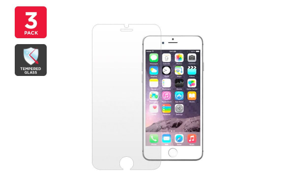 3 Pack Premium Tempered Glass Screen Protector for iPhone 6/6s