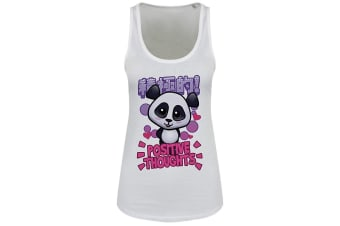 Handa Panda Ladies/Womens Positive Thoughts Floaty Tank (White)