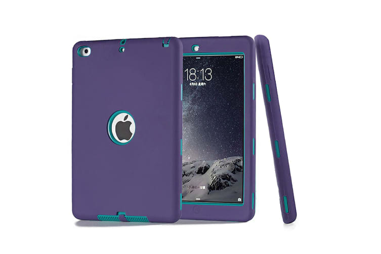 Heavy Duty Shockproof Case Cover For iPad 6th 9.7 Inch 2018-Purple