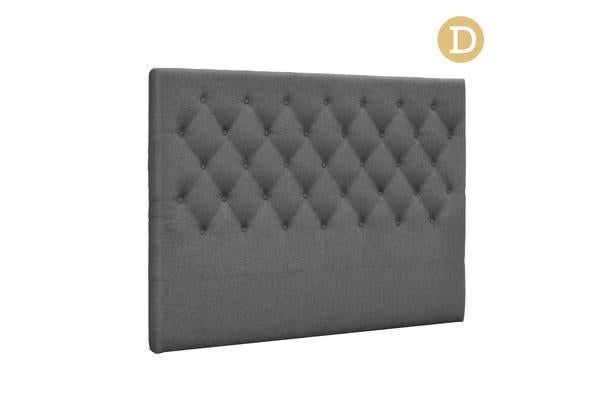 Upholstered Fabric Headboard (Double/Dark Grey)
