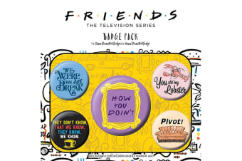 Friends Button Badges (Pack of 5) (Multicoloured)