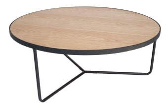 Luna Coffee Table | Matte Black & Natural