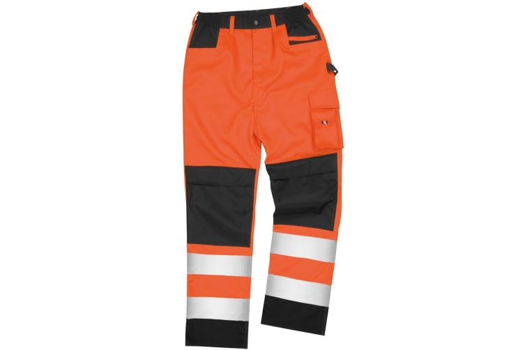 Result Safeguard Adults Unisex Hi Viz Cargo Trousers (Hi Vis Orange) (4XL)