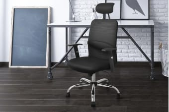 Ergolux High Back Mesh Office Chair with Head Support