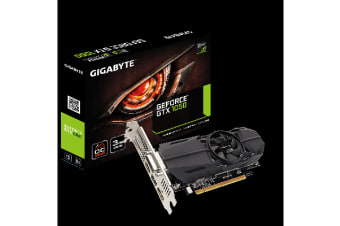 Gigabyte nVidia GeForce GTX 1050 OC 3GB DDR5 Low Profile PCIe Video Card 8K @ 60Hz DP 2xHDMI DVI 4xDisplays 1569/1544MHz