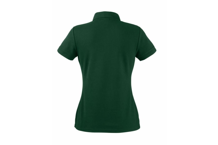 Fruit Of The Loom Womens Lady-Fit 65/35 Short Sleeve Polo Shirt (Bottle Green) (XL)