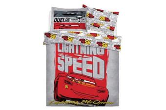 Cars Lightening Speed Boys Reversible Duvet Set (Multicoloured)