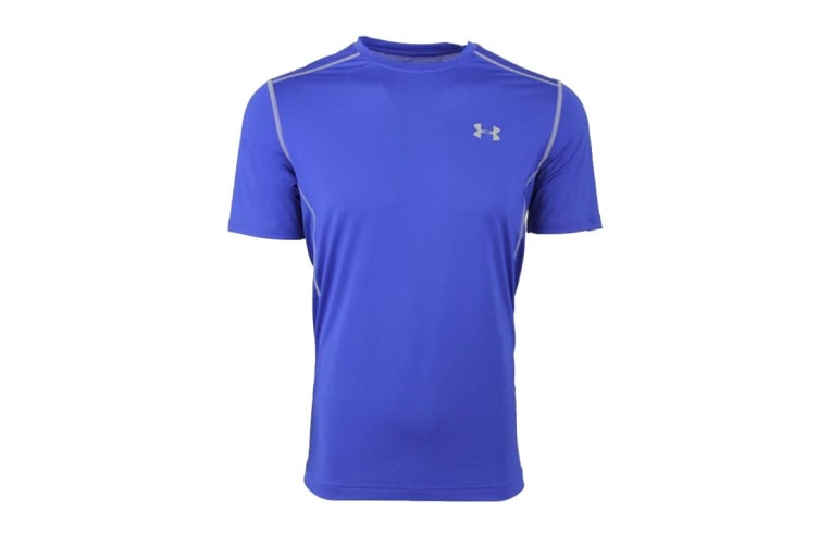 Under Armour Men's Raid T-Shirt (Royal Blue/Steel, Size XL)