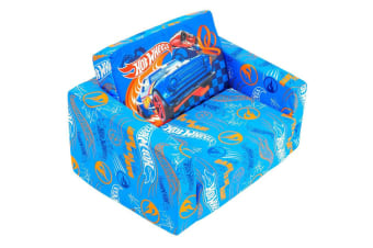 Hot Wheels 60cm Kids/Children Flip Out Soft Sofa/Lounge/Couch/Chair Furniture BL