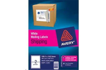 AVERY LASER LABEL L7168-100 100 SHEET