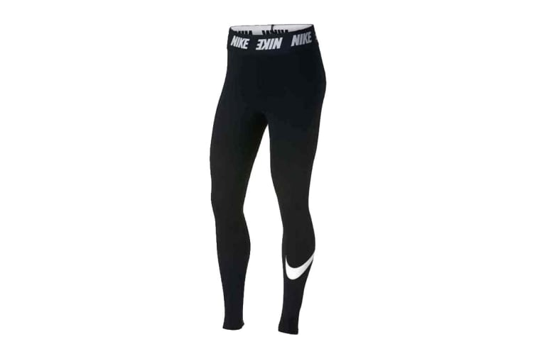 Nike Women's Sportswear Club Leggings (Black, Size M)