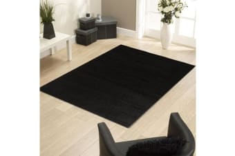 Funky Urban Shag Runner Rug - Black