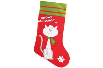 Christmas Shop Pet Cat Stocking (Red/Green) (One Size)