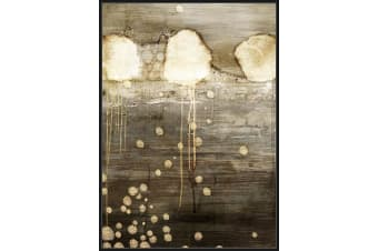 Premium Edition Artwork | Abstract Jelly Drops | Black & Gold | 100 x 140