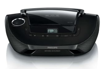 Philips Sound Machine Portable CD Player with USB - Black (AZ1837)