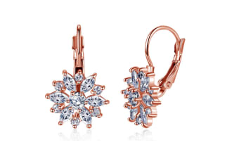 Rose Gold Zircon Ear Buckle Earrings  RoseGold