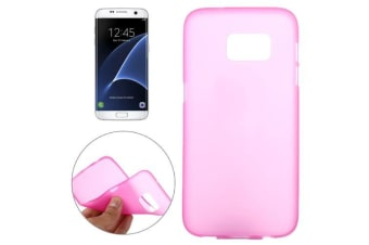 For Samsung Galaxy S7 EDGE Back Case  Slim Frosted Shielding Cover Magenta