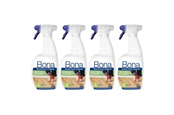 4PK Bona 1L Wood Floor Cleaner Spray Maintenance for Wooden/Timber Surface