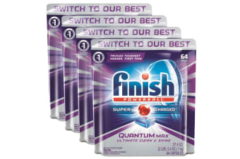 256PK Finish Tabs Quantum Max Powerball Super Charged for Dishwashing/Dishwasher