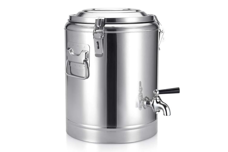 SOGA 22L Stainless Steel Insulated Stock Pot Dispenser Hot & Cold Beverage Container With Tap