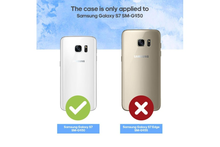 For Samsung Galaxy S7 Case  Armour Strong Shockproof Thin Tough Cover  Red