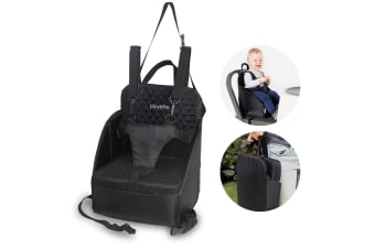 Foldable Portable Travel Seat Booster Safety Feeding High Chair Baby Toddler BLK